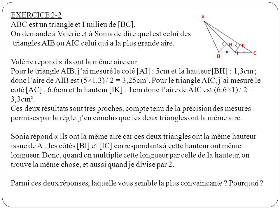 ABC est un triangle et I milieu de [BC].